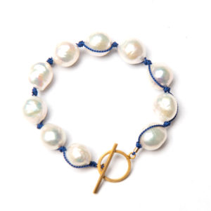 Baroque Pearl Bracelet White / 14k Gold Filled