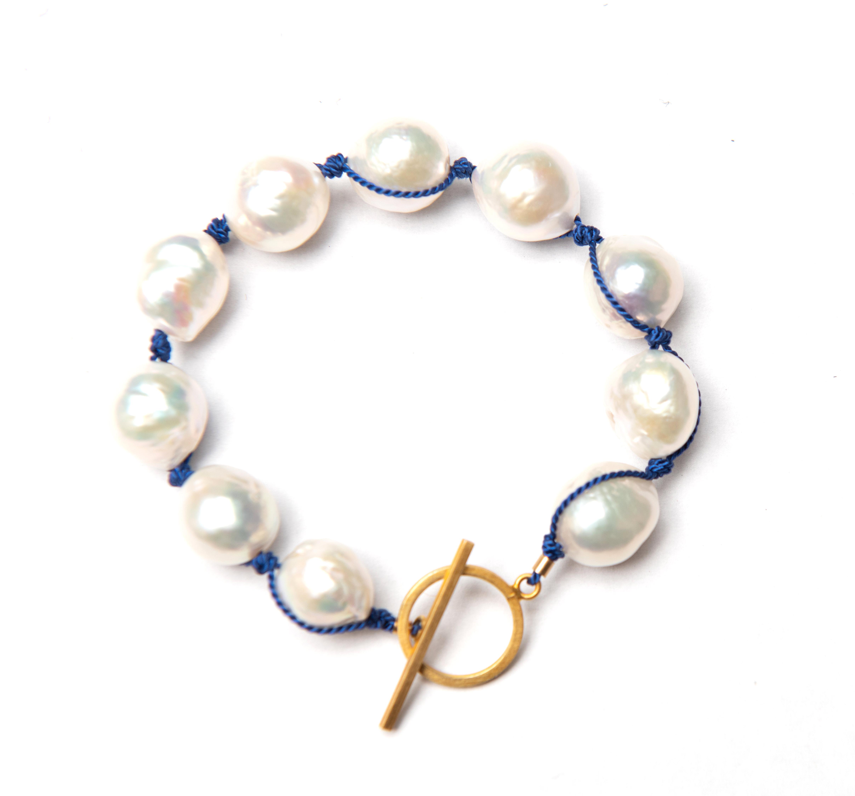 Baroque Pearl Bracelet White / 14k Gold Filled