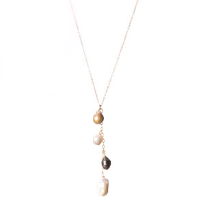 "18"" Pearl Mix Necklace - 14k Gold"